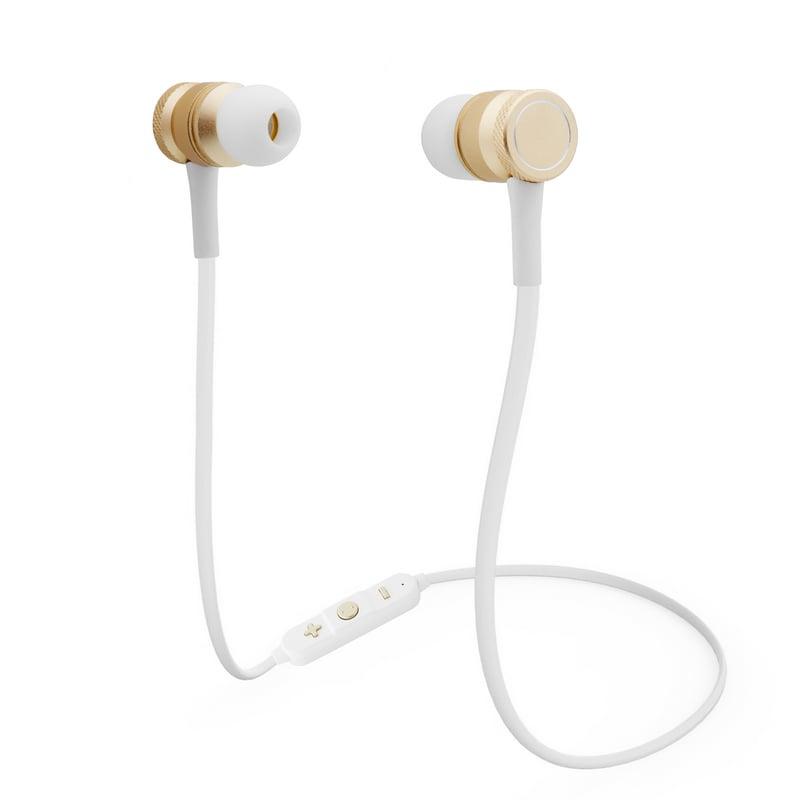 Unotec Nueboo Auriculares Bluetooth Blanco/Dorado