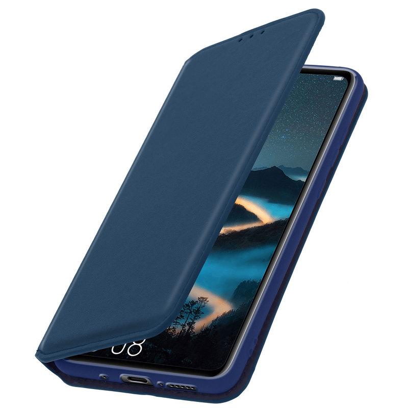 Avizar Funda Tipo Libro con Cartera Azul Oscuro para Huawei Mate 20