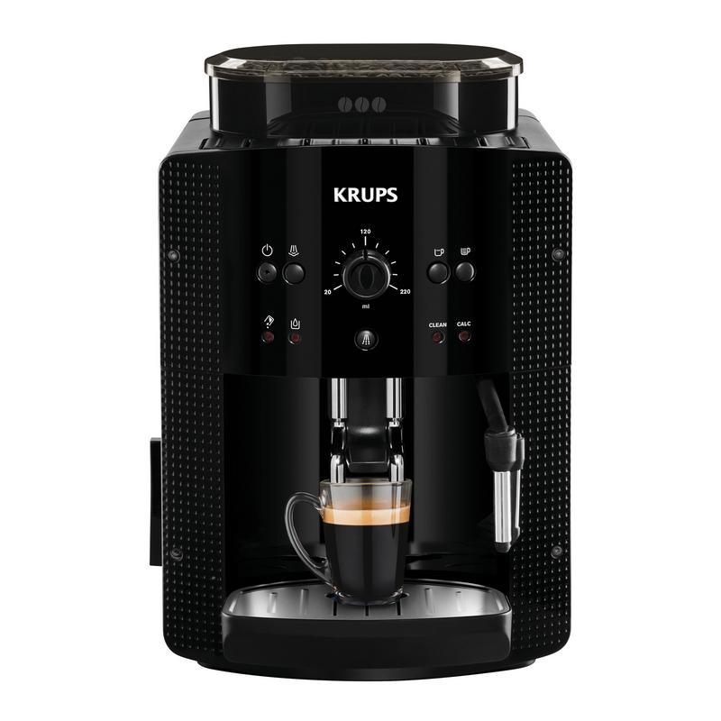 Krups Roma Cafetera Espresso Superautomática Negra