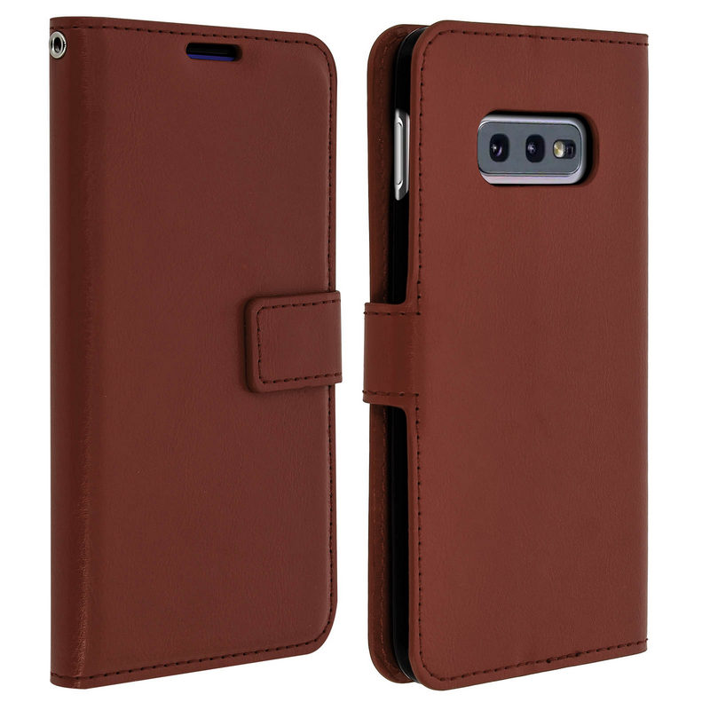 7a2ba5fe9 Avizar Funda Cartera Vintage Marrón para Samsung Galaxy S10e