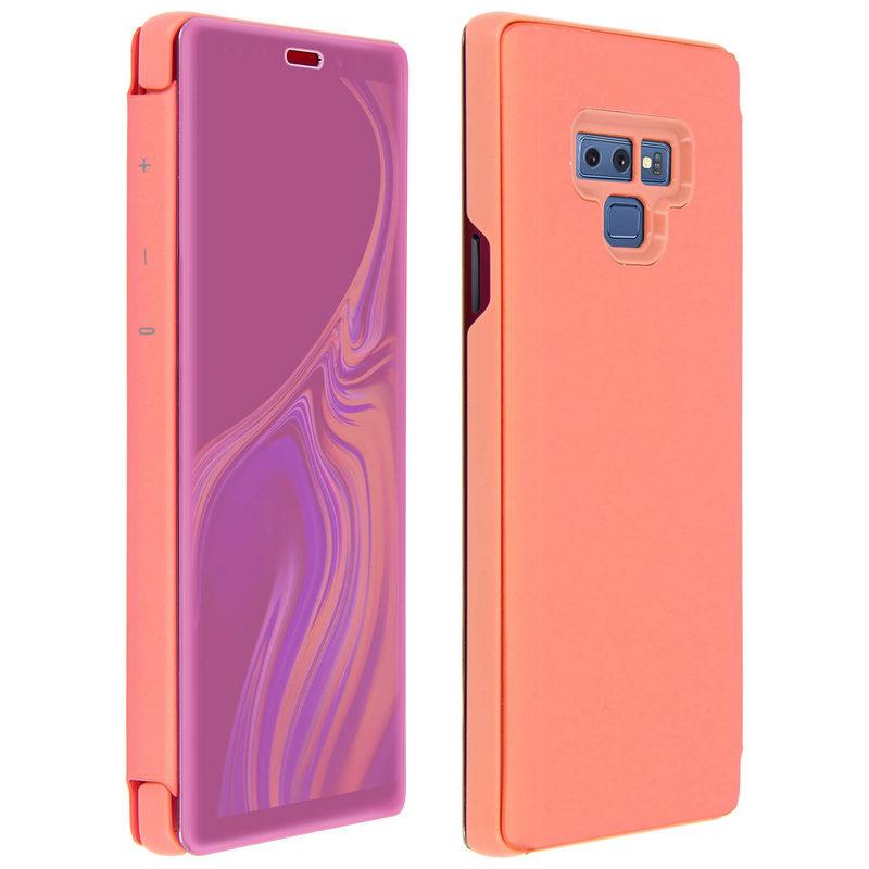 Avizar Funda Libro Translúcida Rosa para Samsung Galaxy Note 9
