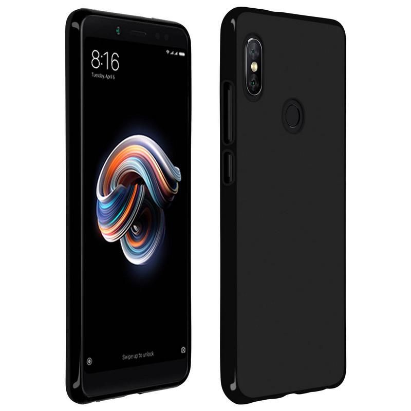 Avizar Funda de Silicona Negra para Xiaomi Redmi Note 5