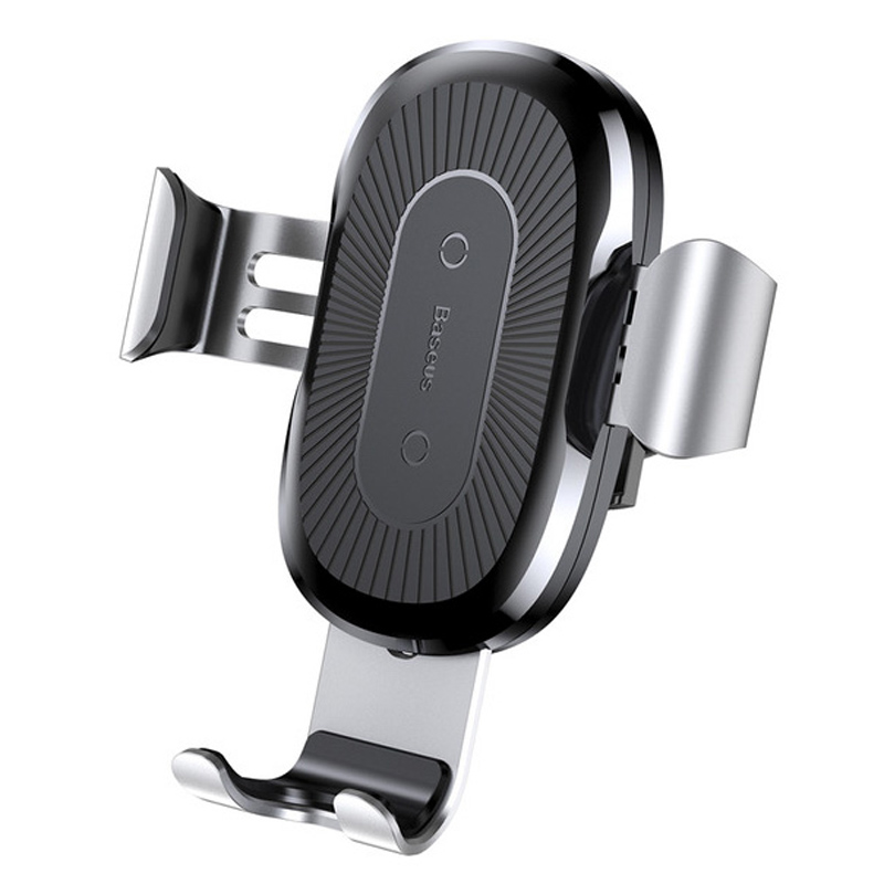 Baseus Soporte Coche Plata con Cargador Inalámbrico para Smartphones