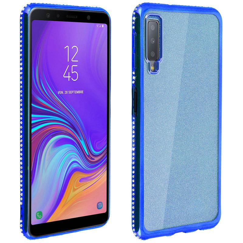 Avizar Funda Purpurina Azul para Samsung