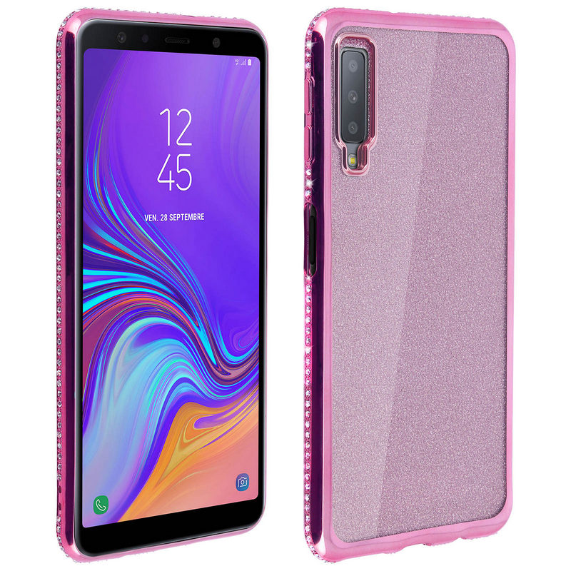 Avizar Funda Purpurina Rosa para Samsung
