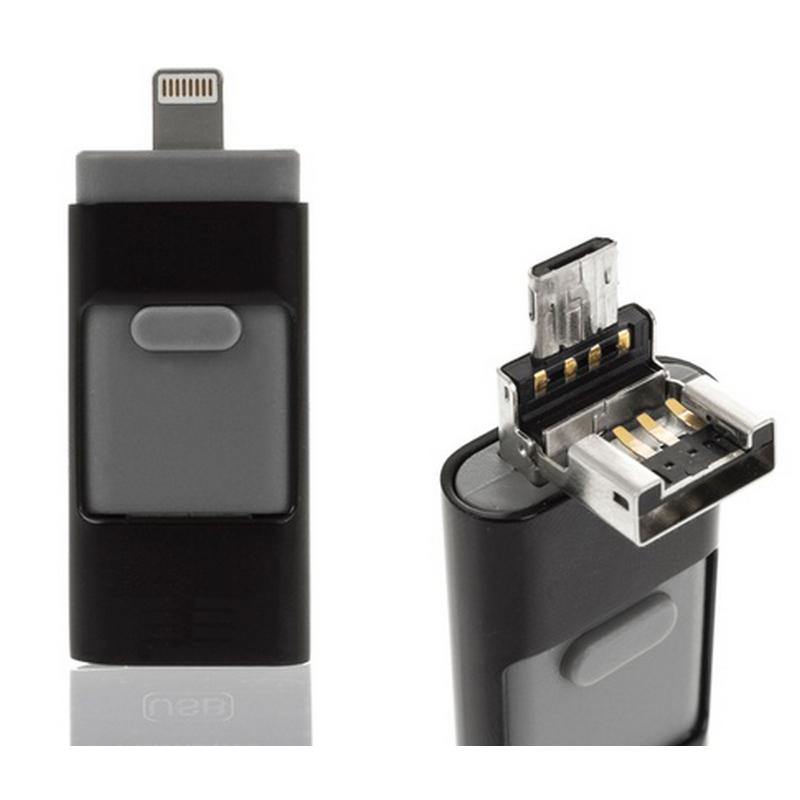 Ital i-Flash OTG 16GB USB/Micro USB/Lightning Negro