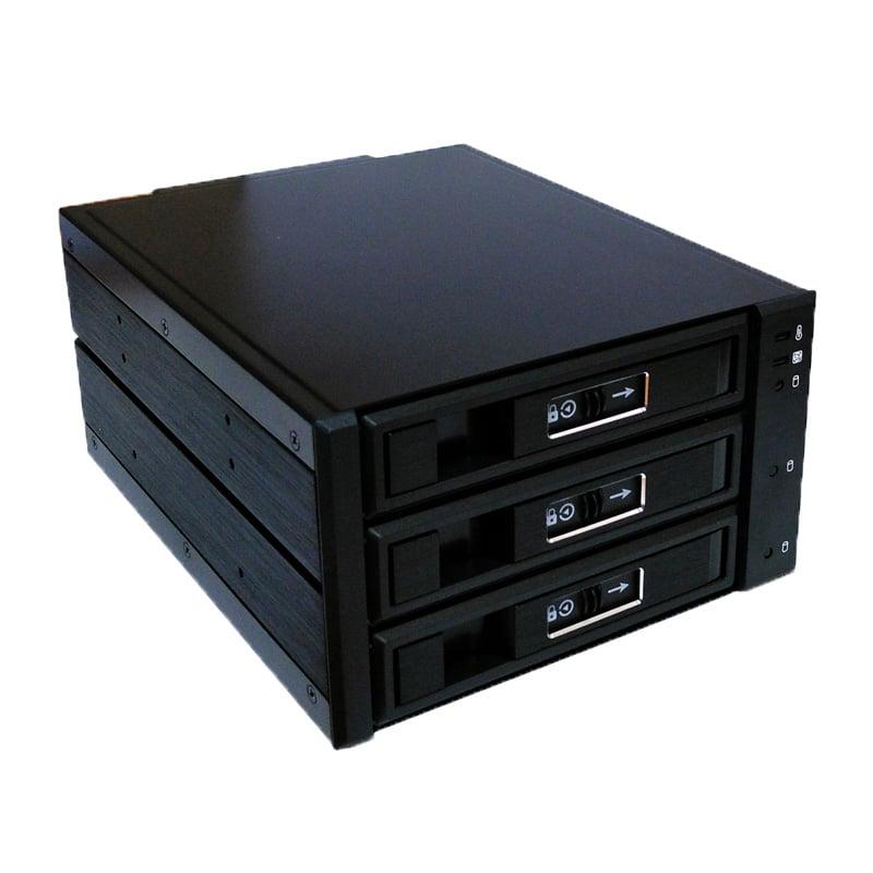 """CoolBox HSW-2533 Bahía Frontal 5.25"""" 3 Discos SATA/SAS 3.5""""/2.5"""" para caja SRM-44500"""