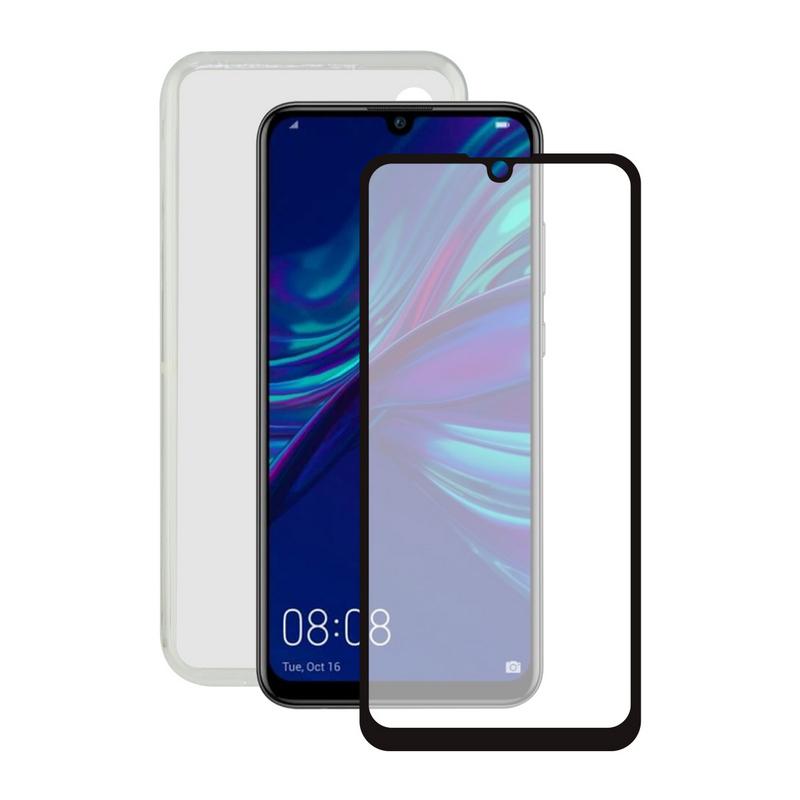 Contact Pack Funda Ultrafina Transparente + Protector Cristal Templado para Huawei P Smart 2019