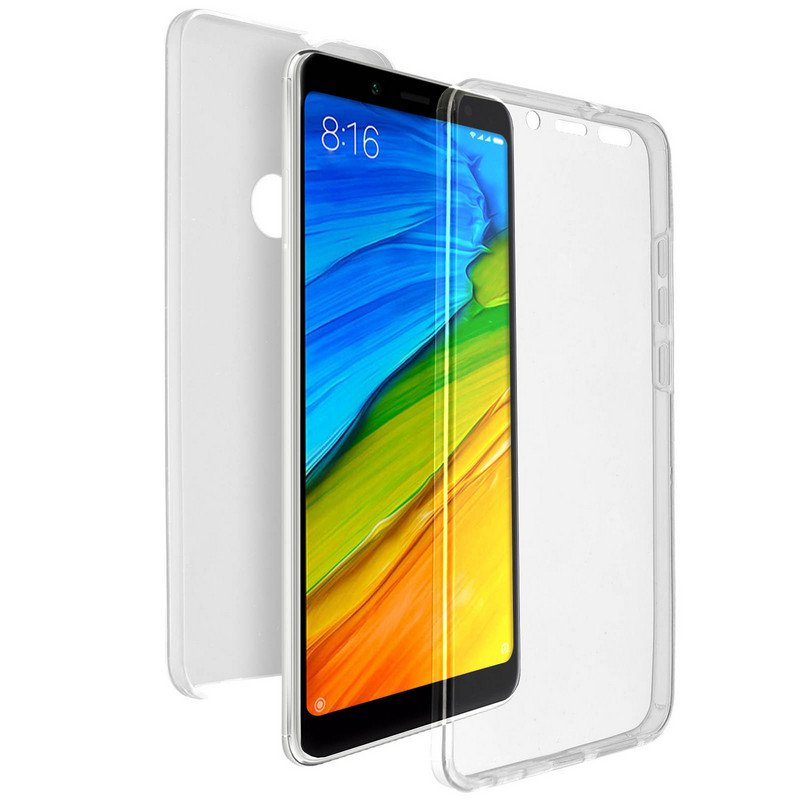 Avizar Funda Doble Transparente para Xiaomi Redmi Note 5