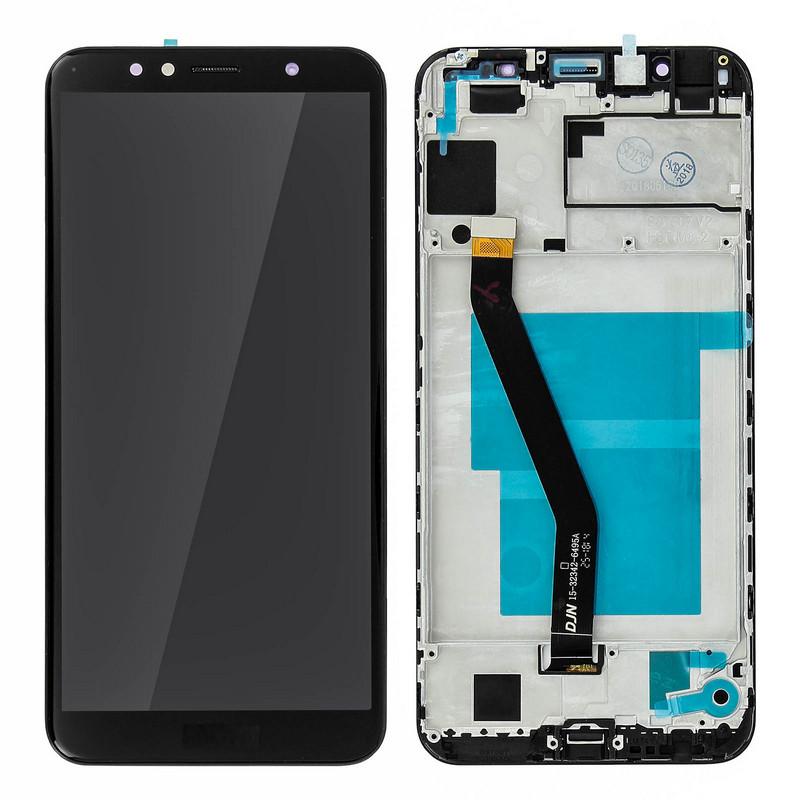 Clappio Repuesto Pantalla LCD/Táctil Negra para Honor 7A
