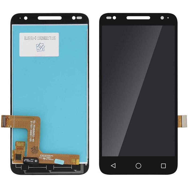Clappio Repuesto Pantalla LCD/Táctil Negra para Alcatel U5