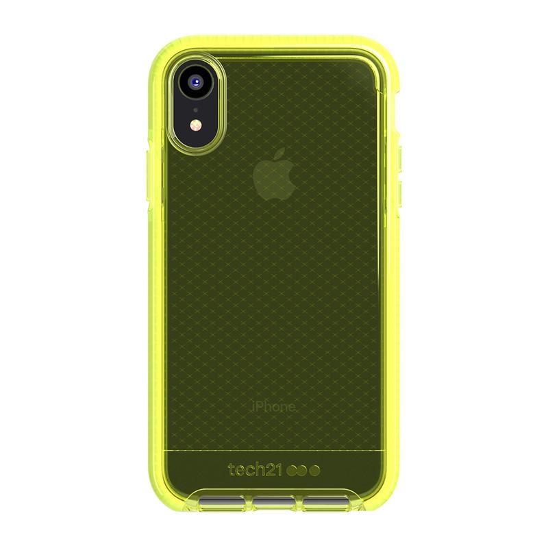 Tech21 Evo Check Funda de Silicona Amarilla para Apple iPhone XR