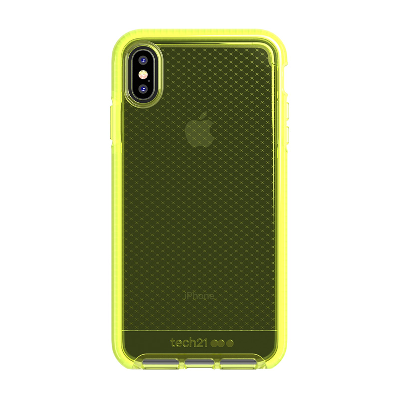 Tech21 Evo Check Funda de Silicona Amarilla para Apple iPhone XS Max