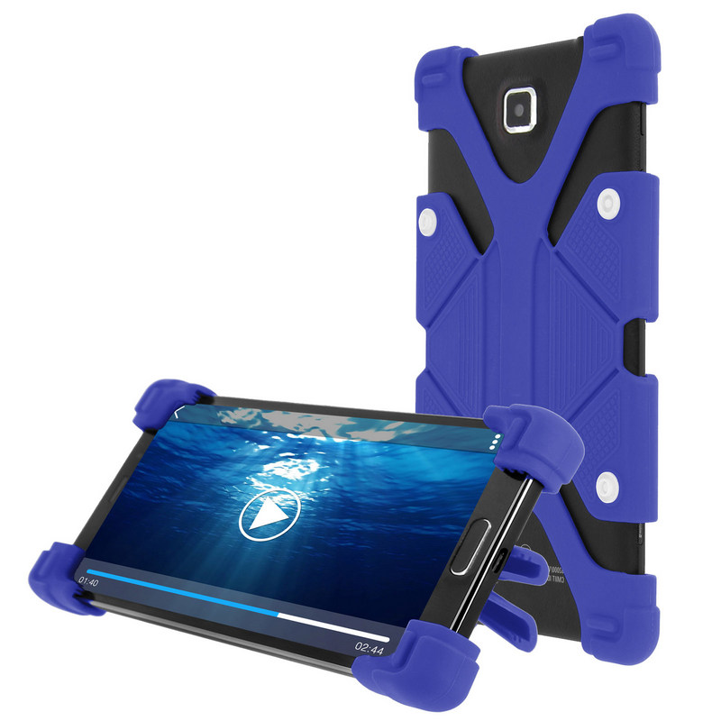 """Avizar Funda Antigolpes con Soporte Azul para Smartphones de 4.7"""" a 5.3"""""""