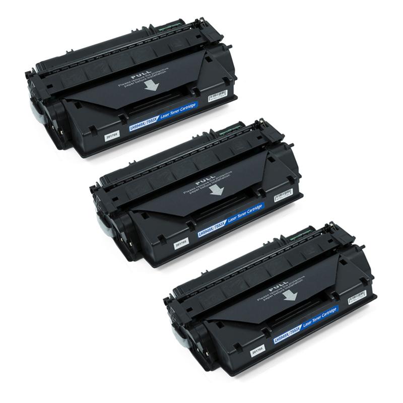 Zipzap Q5949X/Q7553X Pack 3 Tóners Compatibles HP Negro