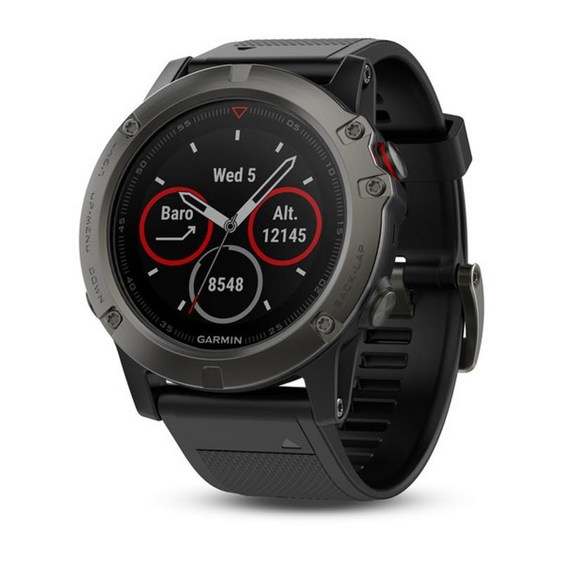 Garmin - Reloj GPS Con Pulsómetro Fenix 5 X Zafiro Talla L