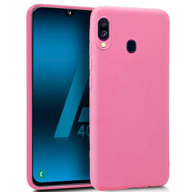 855c87406c4 Cool Funda Silicona Rosa para Samsung Galaxy A40