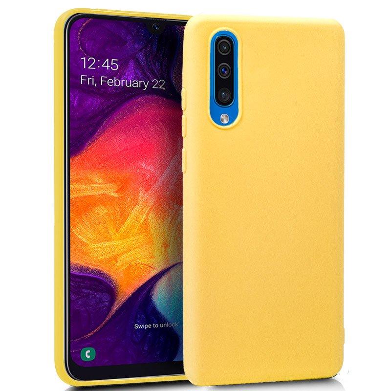 7f1cc3585e5 Cool Funda Silicona Amarilla para Samsung Galaxy A50