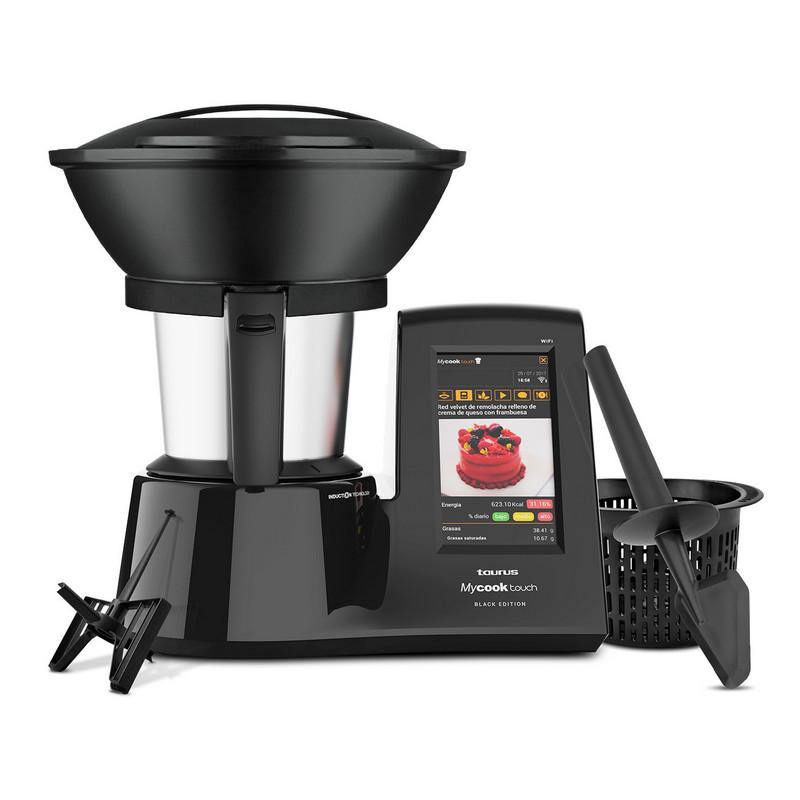 Taurus Mycook Touch Black Edition Robot de Cocina Inteligente Multifunción