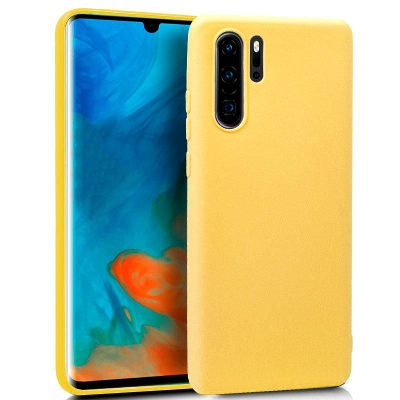 Cool Funda Silicona Amarilla para Huawei