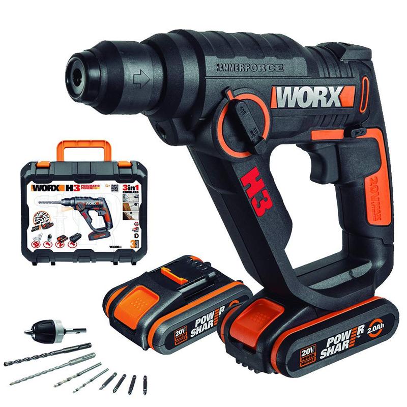 Worx WX390.1 H3 Martillo/Taladro/Atornillador +