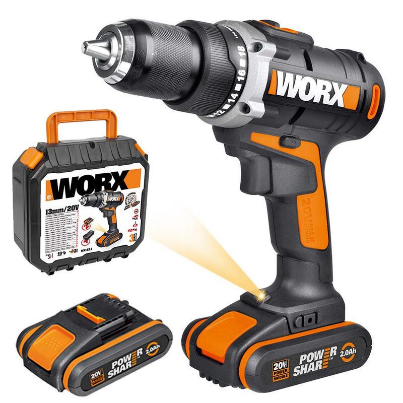Worx WX183.1 Taladro Atornillador +
