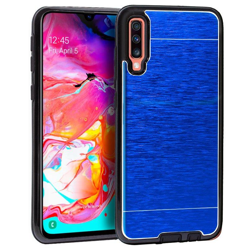 b2503d88a39 Cool Carcasa Aluminio Azul para Samsung Galaxy A70