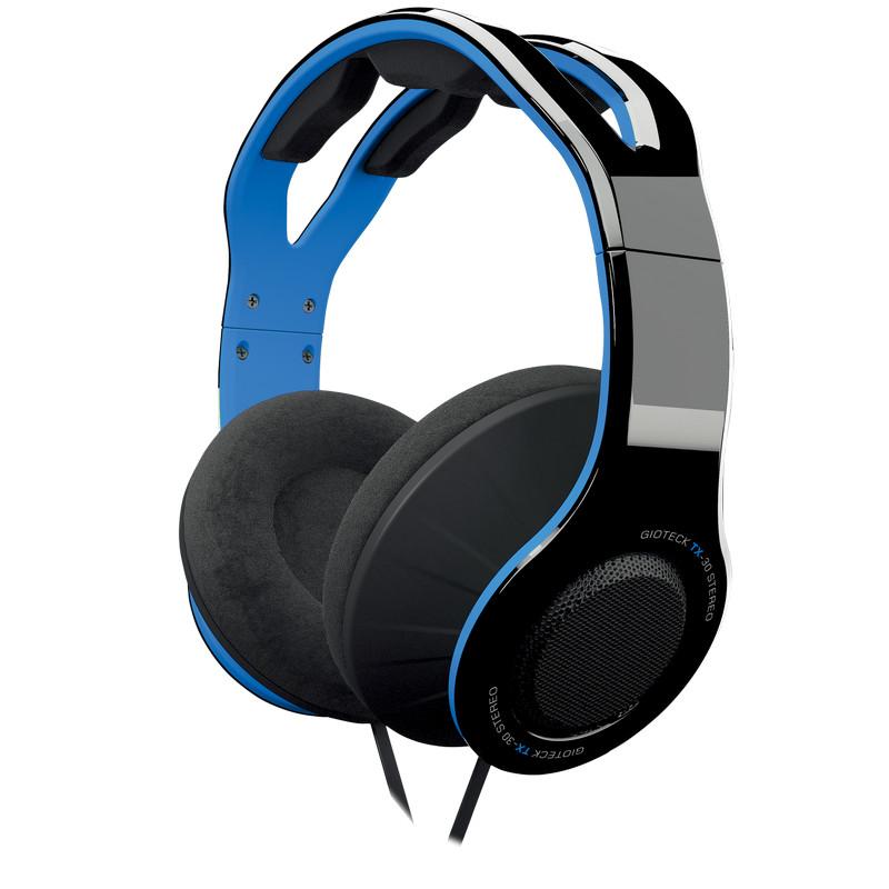 Gioteck TX-30 Auriculares Gaming Multiplataforma Negro/Azul