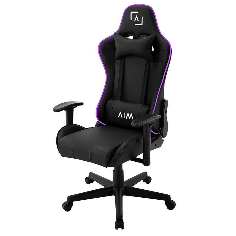 AIM Gaming Silla Gaming con Iluminación DNA RGB Negra