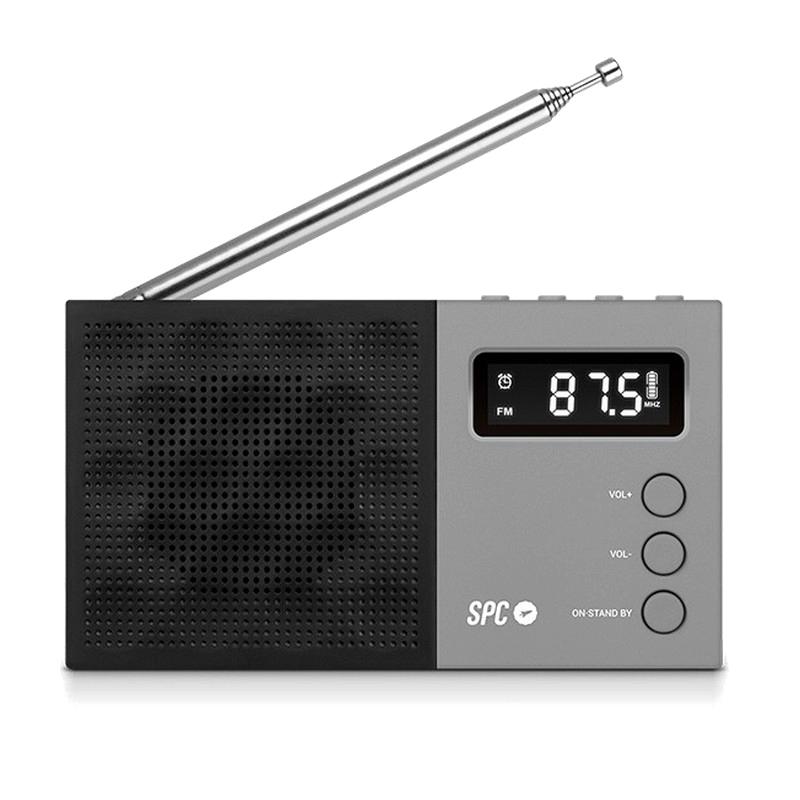 SPC Jetty Radio Portátil Despertador Negra