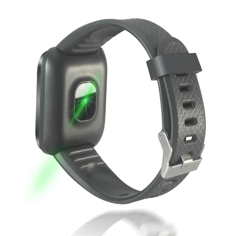Curvo Negro Reloj Fierro Smartwatch Sporty NP80OwXnk
