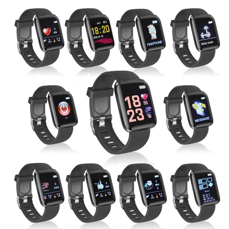 Reloj Negro Fierro Sporty Smartwatch Curvo PXkZiu