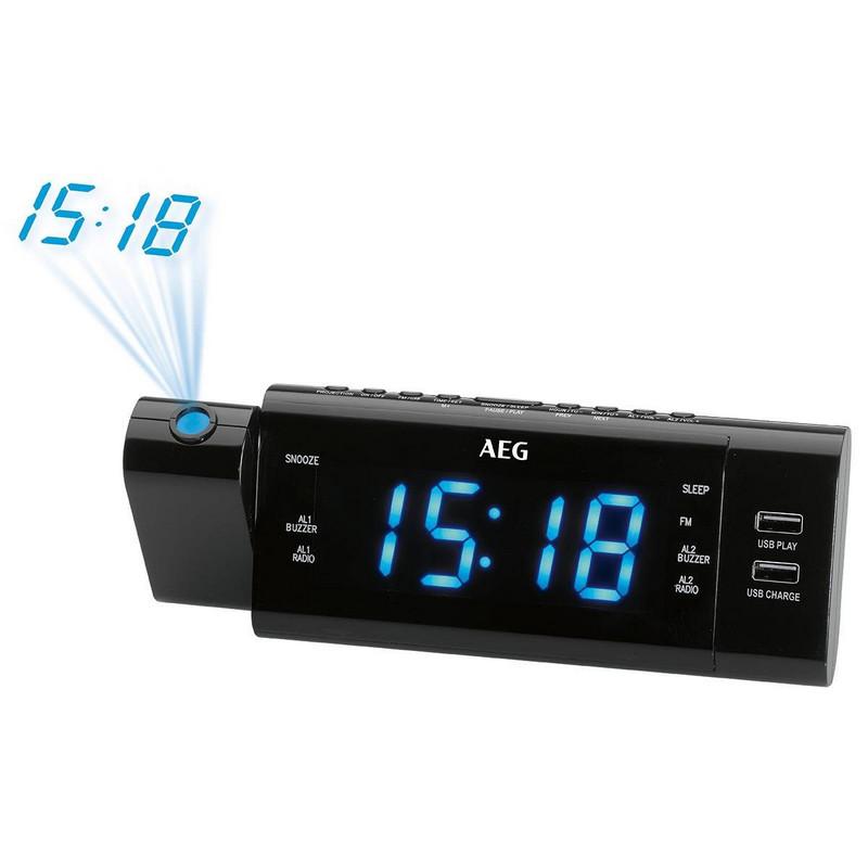 AEG MRC 4159 Radio Despertador Cargador
