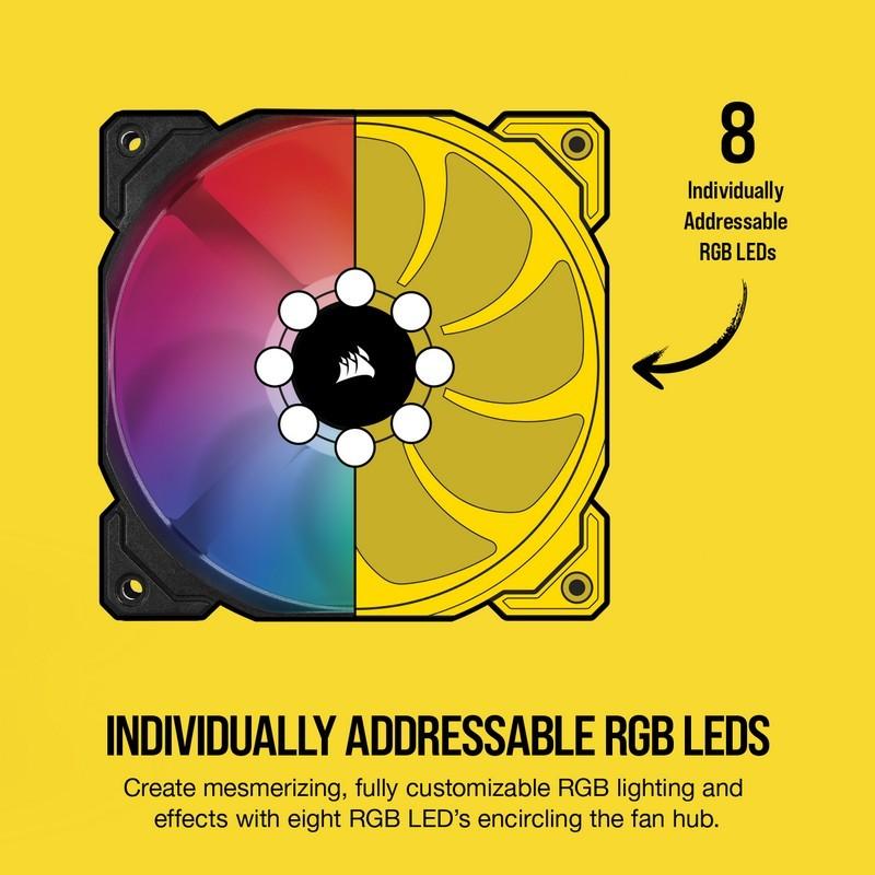 Corsair iCUE SP140 RGB PRO Double Fan Kit 140mm + Lighting Node Core