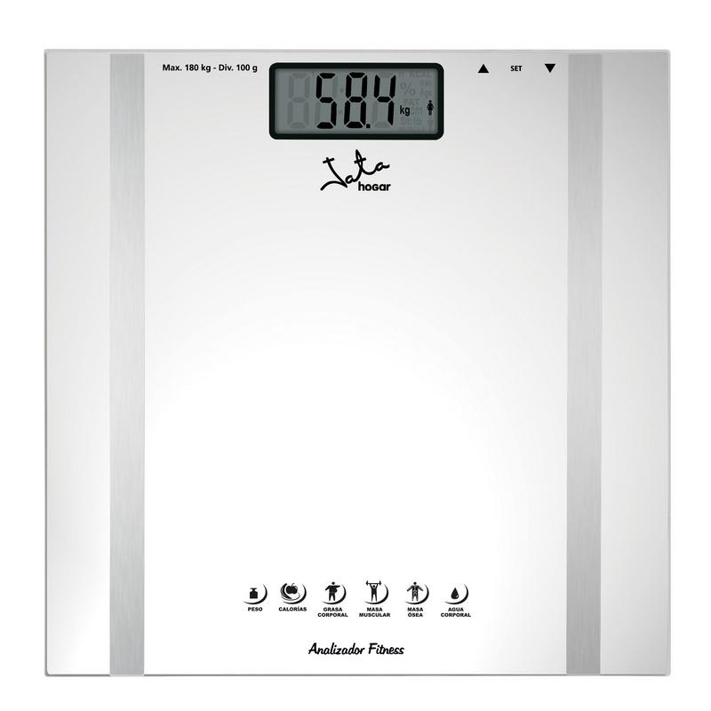 Jata 532 Báscula Analizador Fitness Blanca