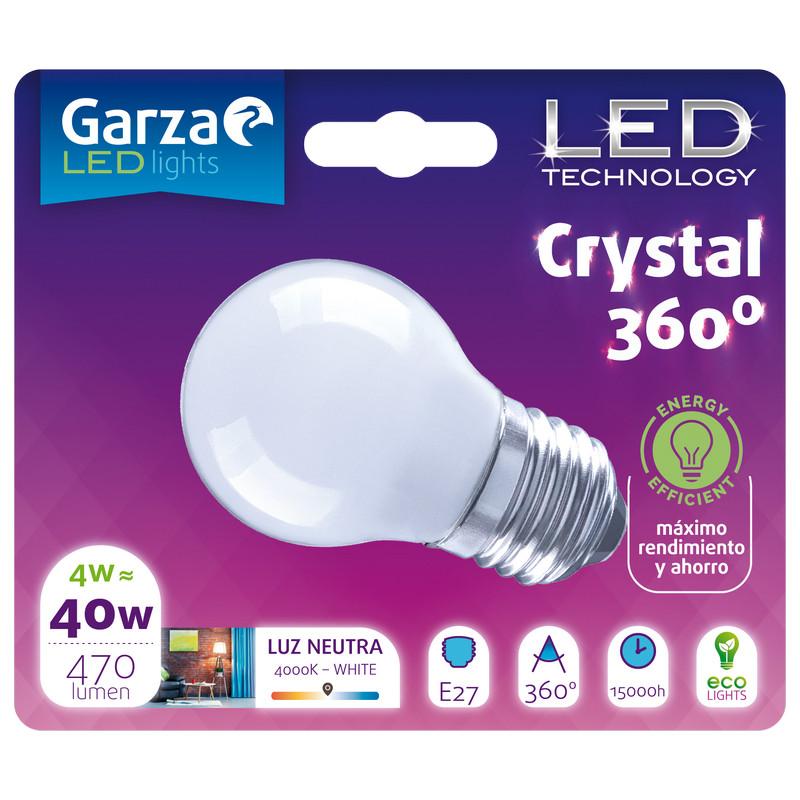 Garza Crystal Bombilla LED 4W E27