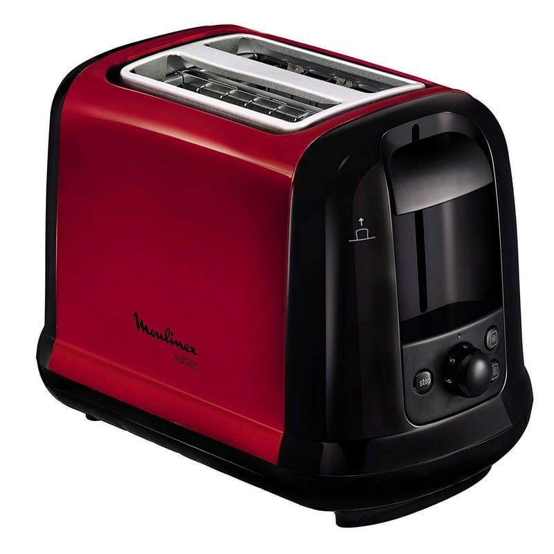Moulinex Subito Tostadora Eléctrica 850W Rojo/Negro