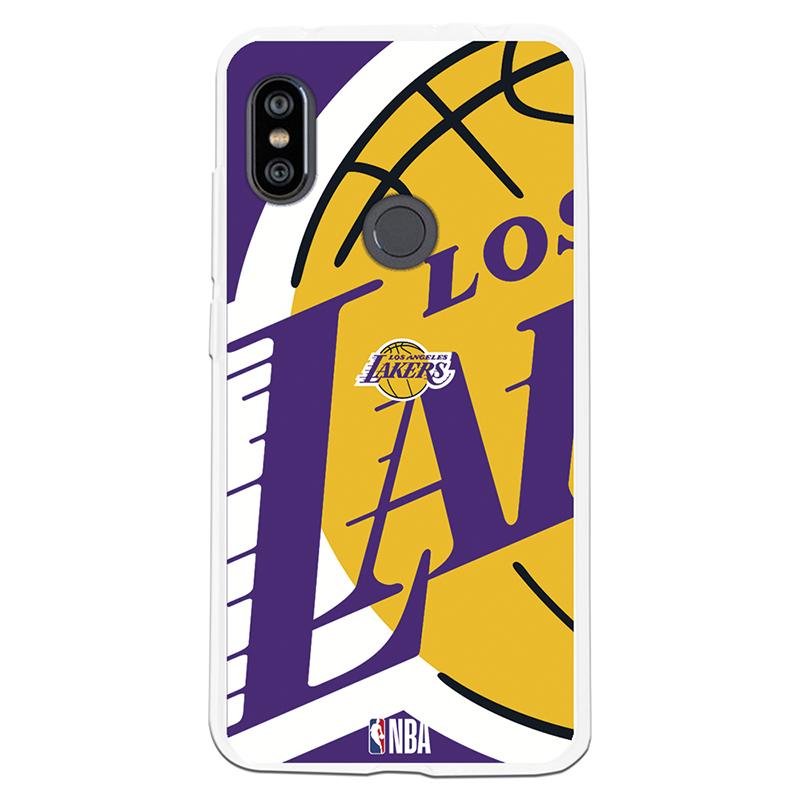 Be Unique Funda Gel NBA Los Angeles Lakers para Xiaomi Redmi Note 6/Note 6 Pro
