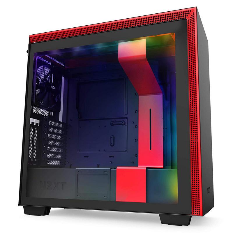 NZXT H710i Cristal Templado USB 3.1 RGB Negro/Rojo Mate