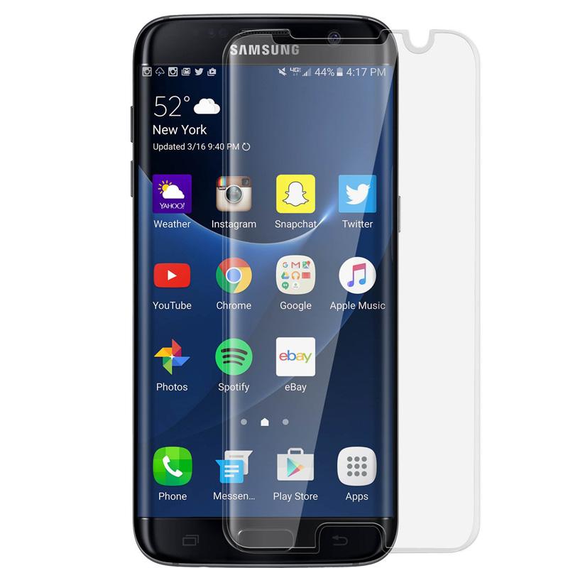 Avizar Protector de Pantalla de Cristal Templado Ultrafino Bordes Curvados Transparentes para Samsung Galaxy S7 Edge