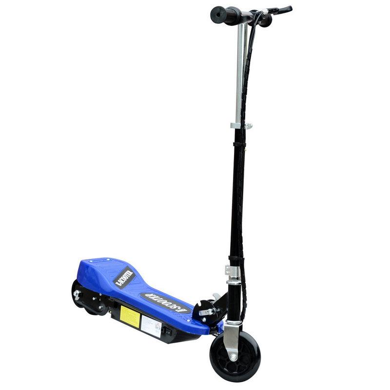 Patiente eléctrico HomCom Scooter Patinete Eléctrico Plegable con Manillar Ajustable Azul