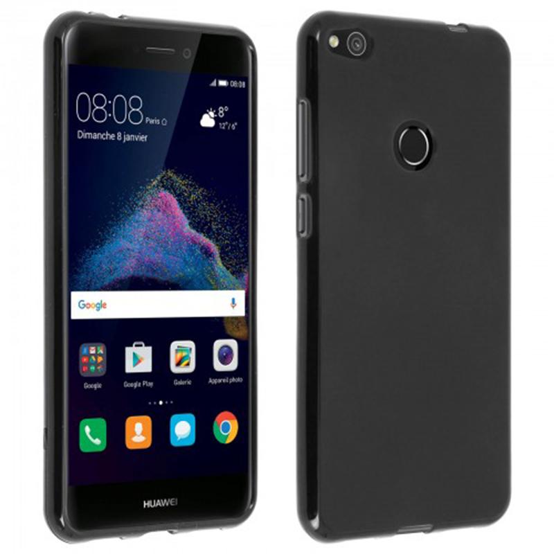 Avizar Funda Protectora de Silicona Flexible Negra para Huawei P8 Lite 2017 / Honor 8 Lite