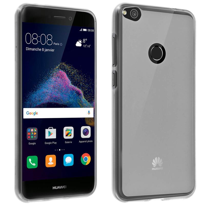Avizar Funda Protectora de Silicona Flexible Ultrafina Blanca para Huawei P8 Lite 2017