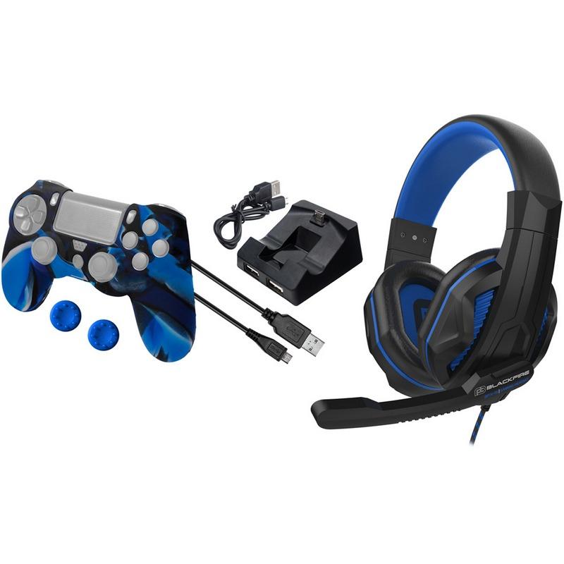 Ardistel Blackfire BFX-15 Pack de Accesorios para PS4 Azul