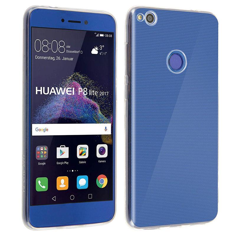 Avizar Funda Protectora de Silicona Flexible Ultrafina Transparente para Huawei P8 Lite (2017) / Honor 8 Lite