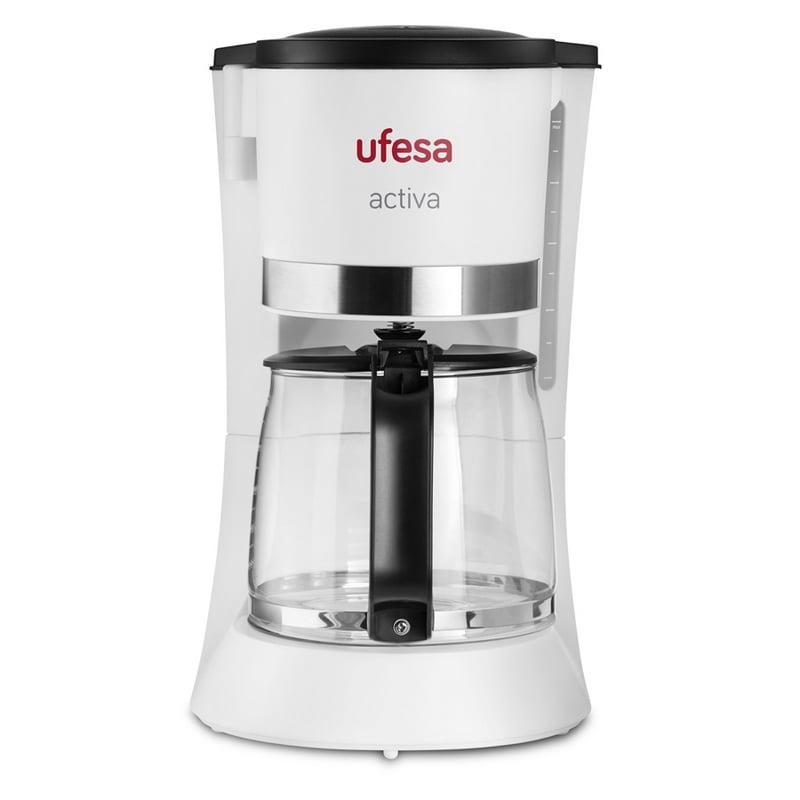 ufesa cg7123 cafetera de goteo 12 tazas 800w blanca