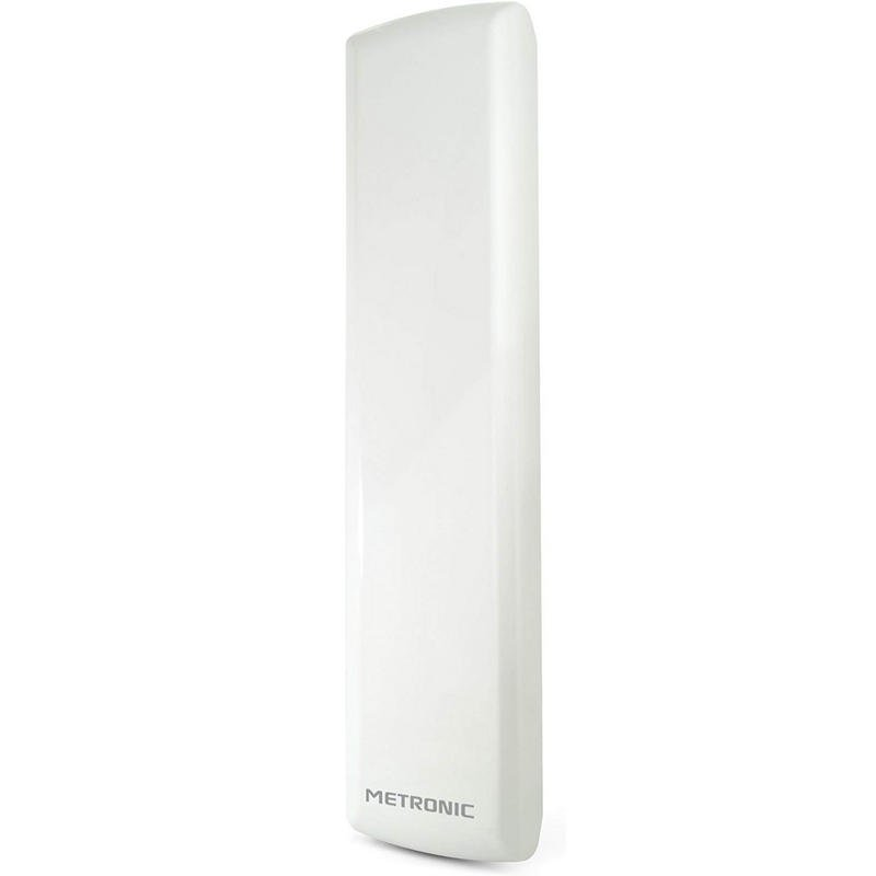 Metronic Antena Exterior Discreta Amplificada 4G Blanca