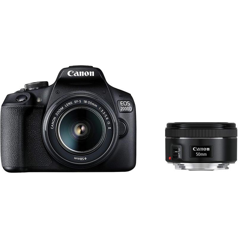 Canon 2000D + Objetivo 18-55 IS II + Objetivo 50 F1.8 STM