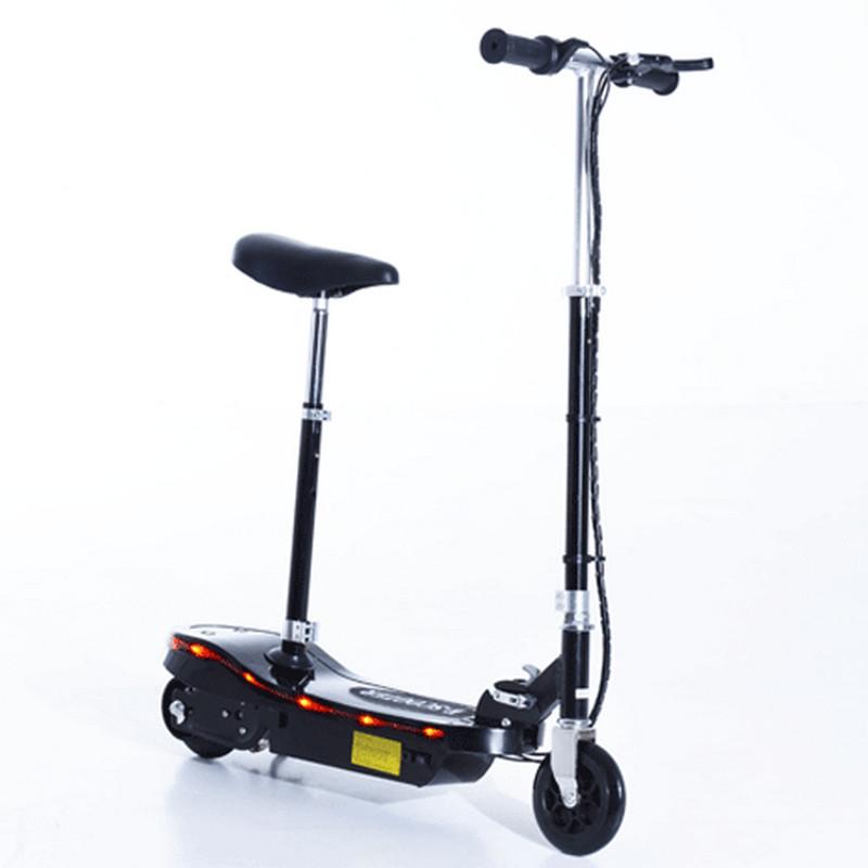 Patiente eléctrico HomCom Scooter Patinete Eléctrico con Asiento 120W Negro