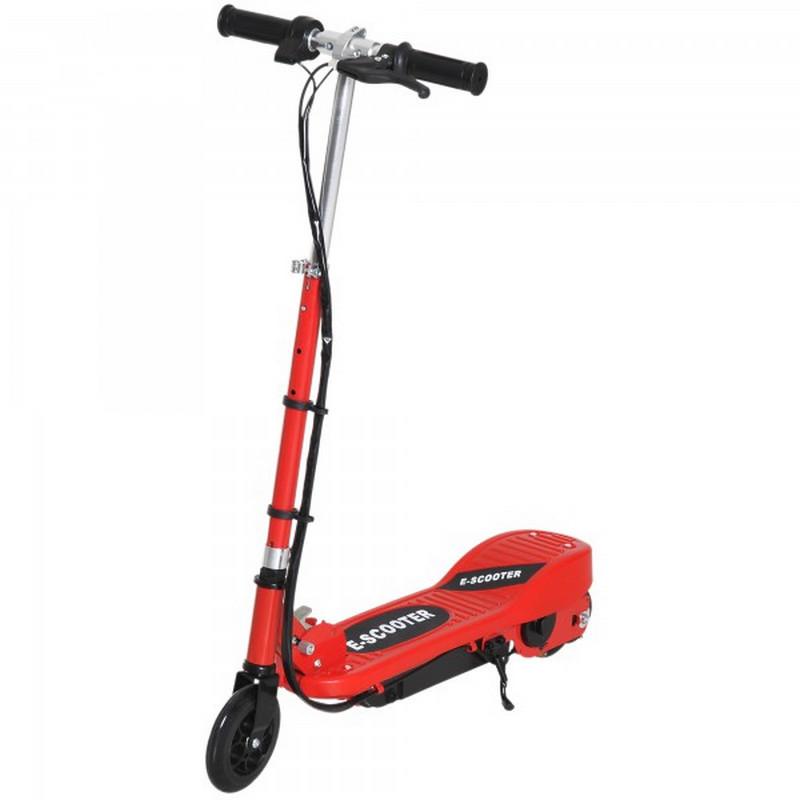Patiente eléctrico HomCom E-Scooter Patinete Eléctrico Plegable 120W Rojo